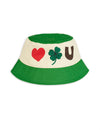 Ivory and Green Cotton Sunhat