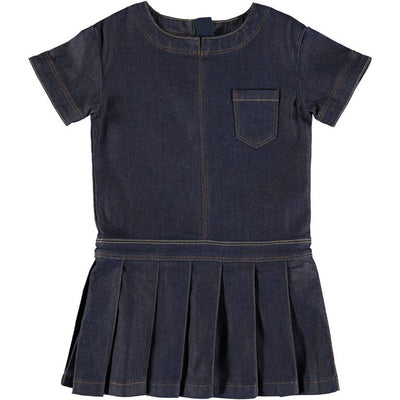 CAYLA DRESS-RAW INDIGO