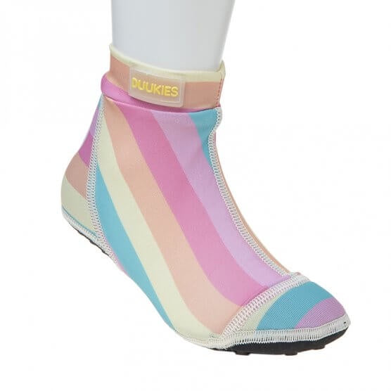 Multicolour Pastel Striped BeachSocks
