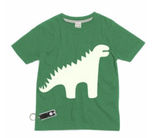 Green Glow In The Dark Dinosaur T-Shirt