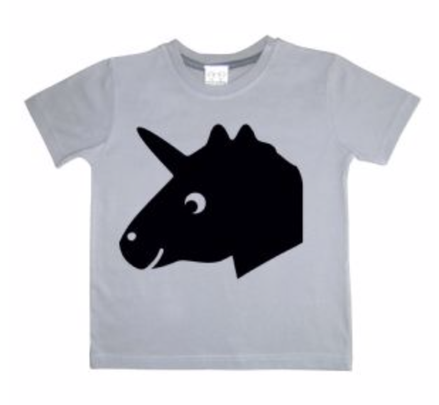 Grey Chalkboard Unicorn T-Shirt
