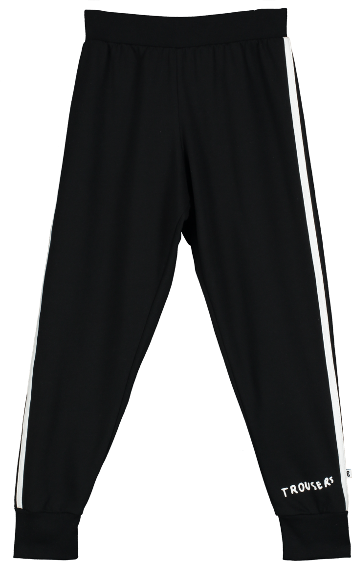 Black Trousers Sweat Pants