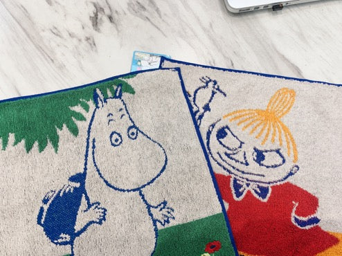Moomin with Friend Towel 25x25cm