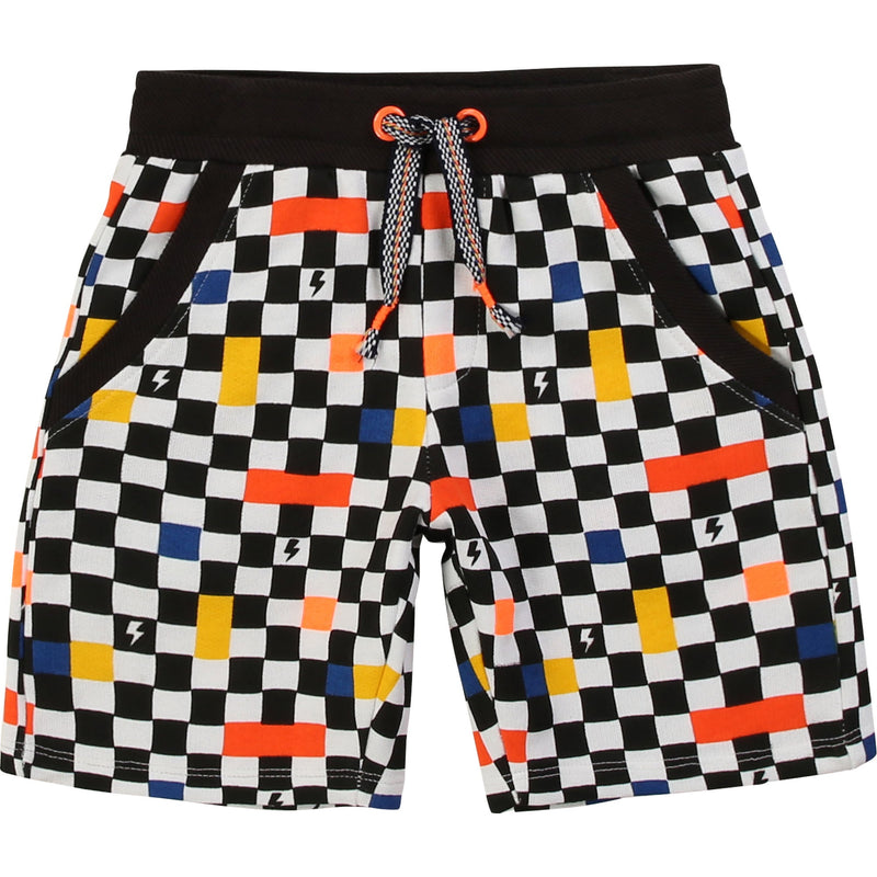 Boy Checked Cotton Shorts