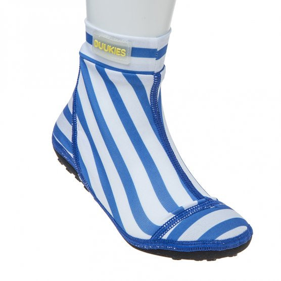 Blue And White Striped BeachSocks