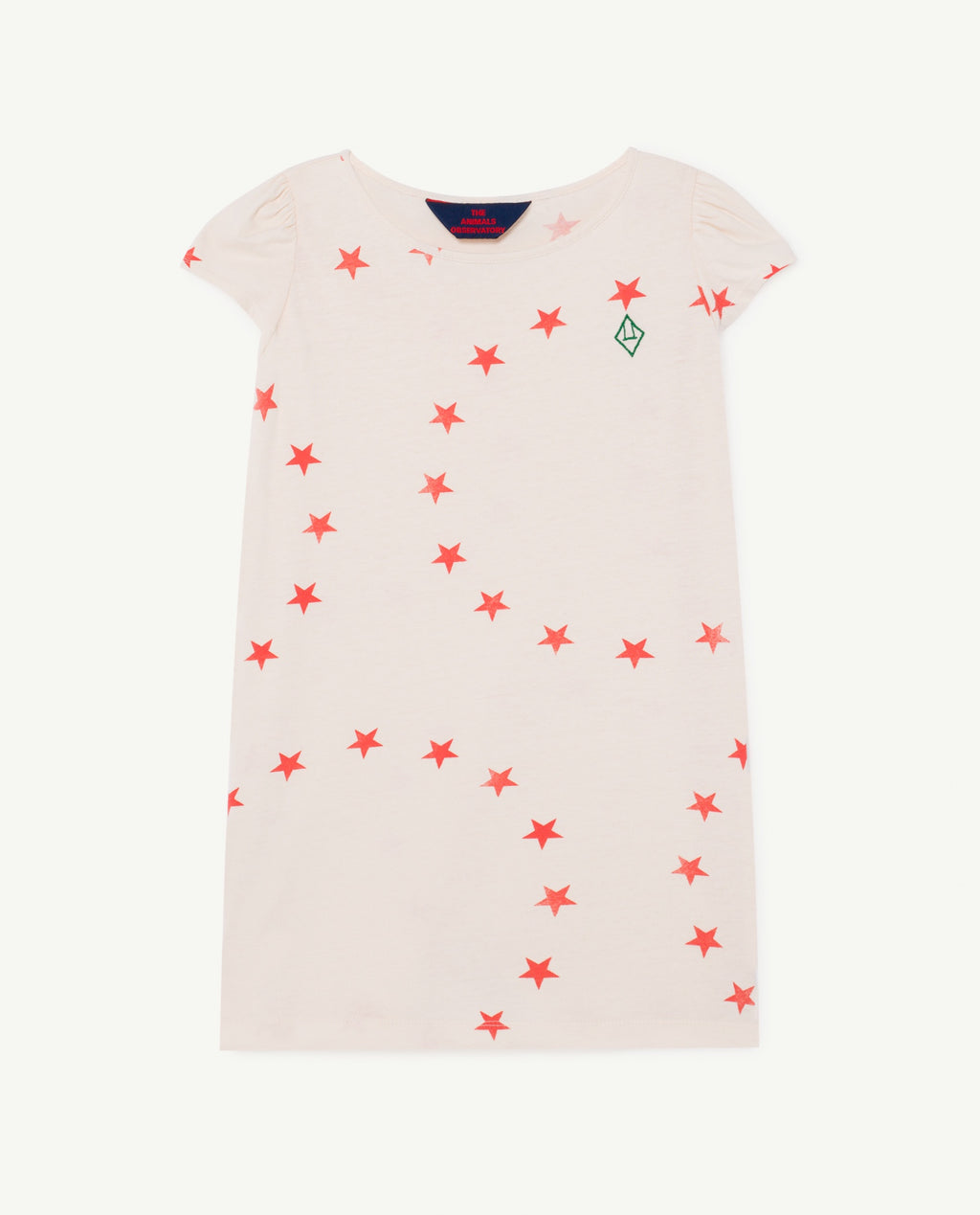 Flamingo Pink Star T-Shirt Dress