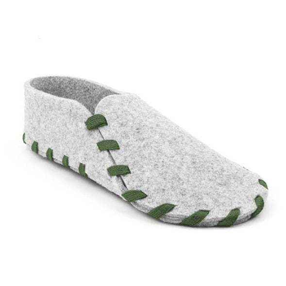 Adult Laced Up Wool Felt Slipper