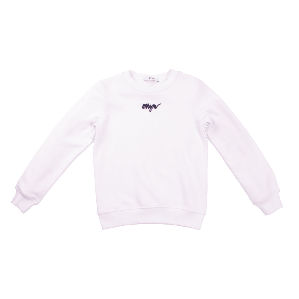 White Cotton Fringed Sweatshirts