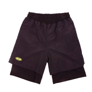 Black Layered Track Shorts