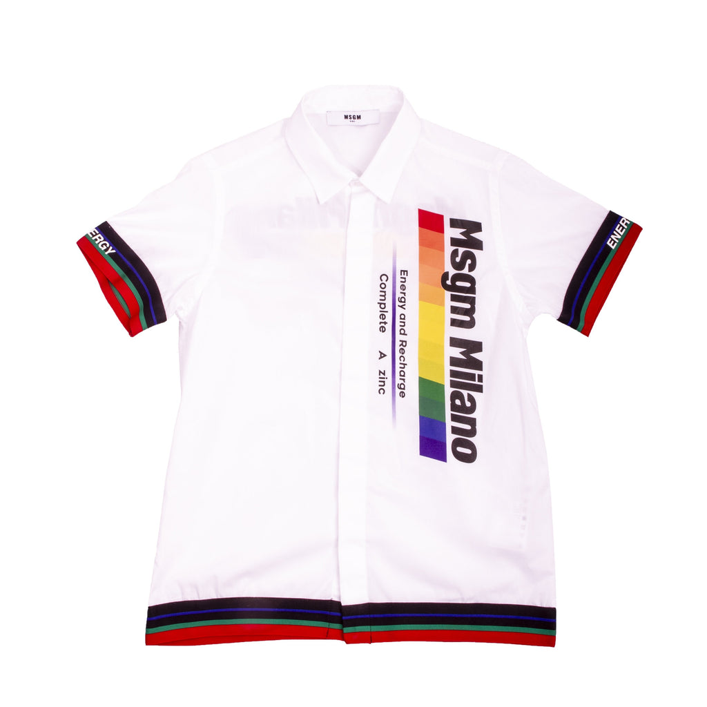 White Logo Parody Polo Shirt