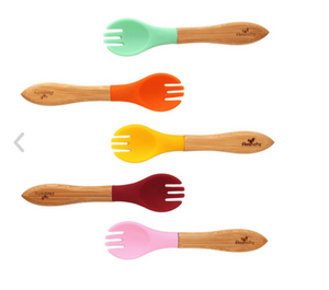Avanchy Bamboo Baby Forks- Pink Edition