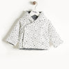 PADDED BABY JACKET WITH HOOD, REVERSIBLE
