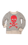 STRIPED CREWNECK - CROSSBONES