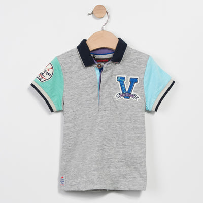 FLECKED JERSEY POLO SHIRT