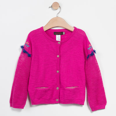 FINE OPEN-KNIT CARDIGAN