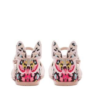 Chiara Embroidered Butterfly Shoes Pink/Multi
