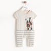 SURF DOG INTARSIA PLAYSUIT