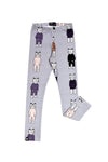 LAVENDER LEGGING WITH CATS