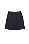 DARK GREY WARM SKIRTS WITH BLACK STRIPE