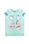 TOP MINT WITH ELEPHANT SHORT SLEEVES