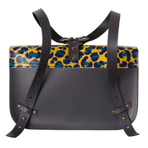 Ellison Satchel with a leopard print flap, a handy bag for the daily necessities.