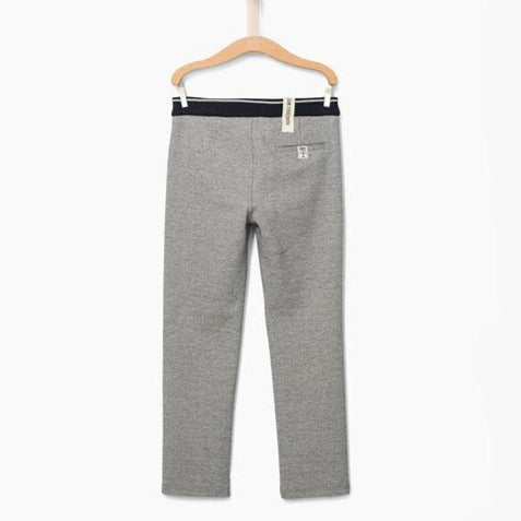 Boys' Navy Semi-Plain Trousers