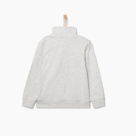 Boy' Grey Marl Sweatshirt+Trainer Embroidery
