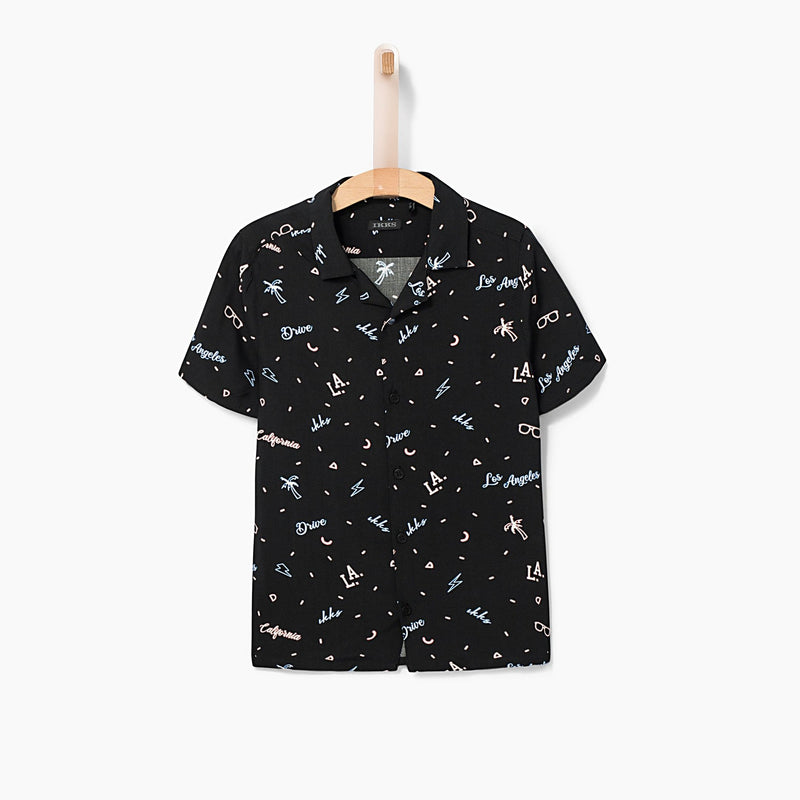 Boys' Black LA Vocation Shirt
