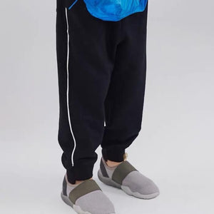 Black Cotton Joggers for boys