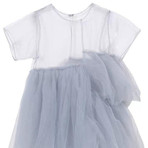 Girls' Dust Blue Tulle Dress