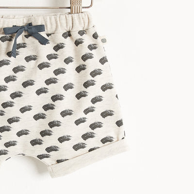 TEENY WAVES PRINT LIGHTWEIGHT TERRY BLOOMER SHORTS