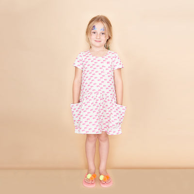 TEENY WAVES PRINTED LIGHTWEIGHT TERRY DRESS