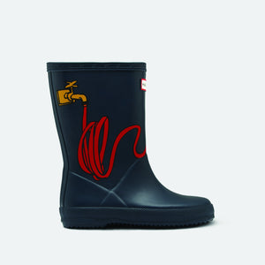 Hunter Rainboots with cheeky garden hose design.