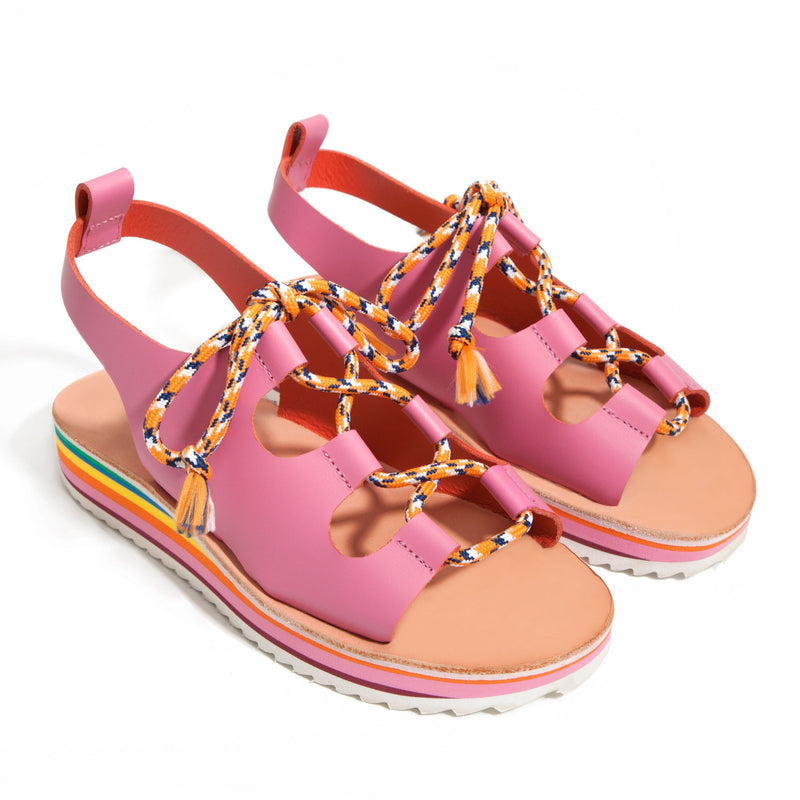 Guava Pink Leather Sandal
