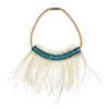 MAGIC FEATHER FRING NECKLACE