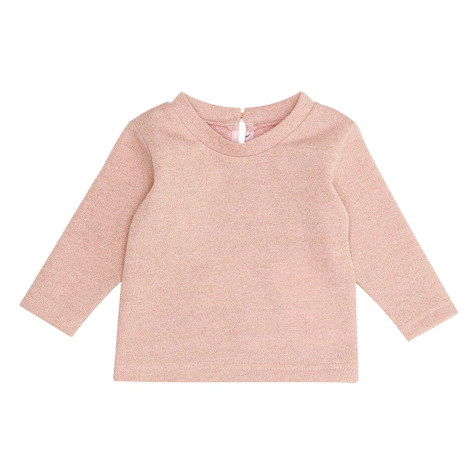 A classic pull-over top by the designer Christina Rohde. Incredibly soft in pale rose fabric. Hints with sparkling details for a little bit of flare. An essential addition to the wardrobe for autumn and fall.   From designer Christina Rodhe who is a pioneer in providing Scandinavian style and quality in children wear.