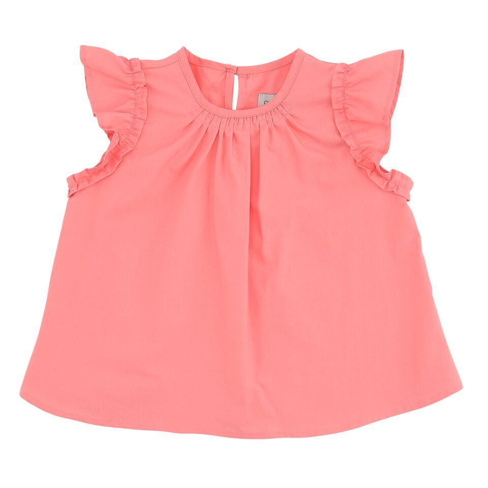Baby Pink Ruffle Flare Dress