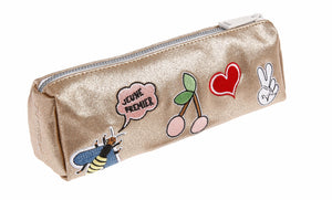 Pencil Case Metallic Gold