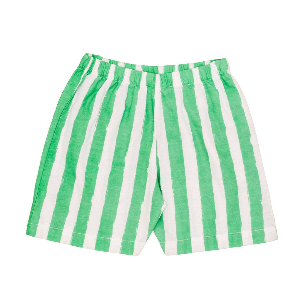 Green Stripe Shorts
