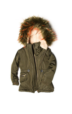 Green Middle Puffer Coat