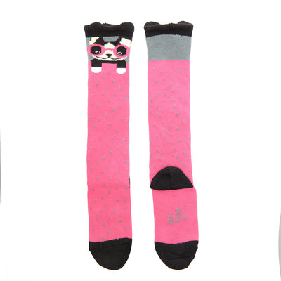 KNEE LENGTH DOG FACE SOCKS
