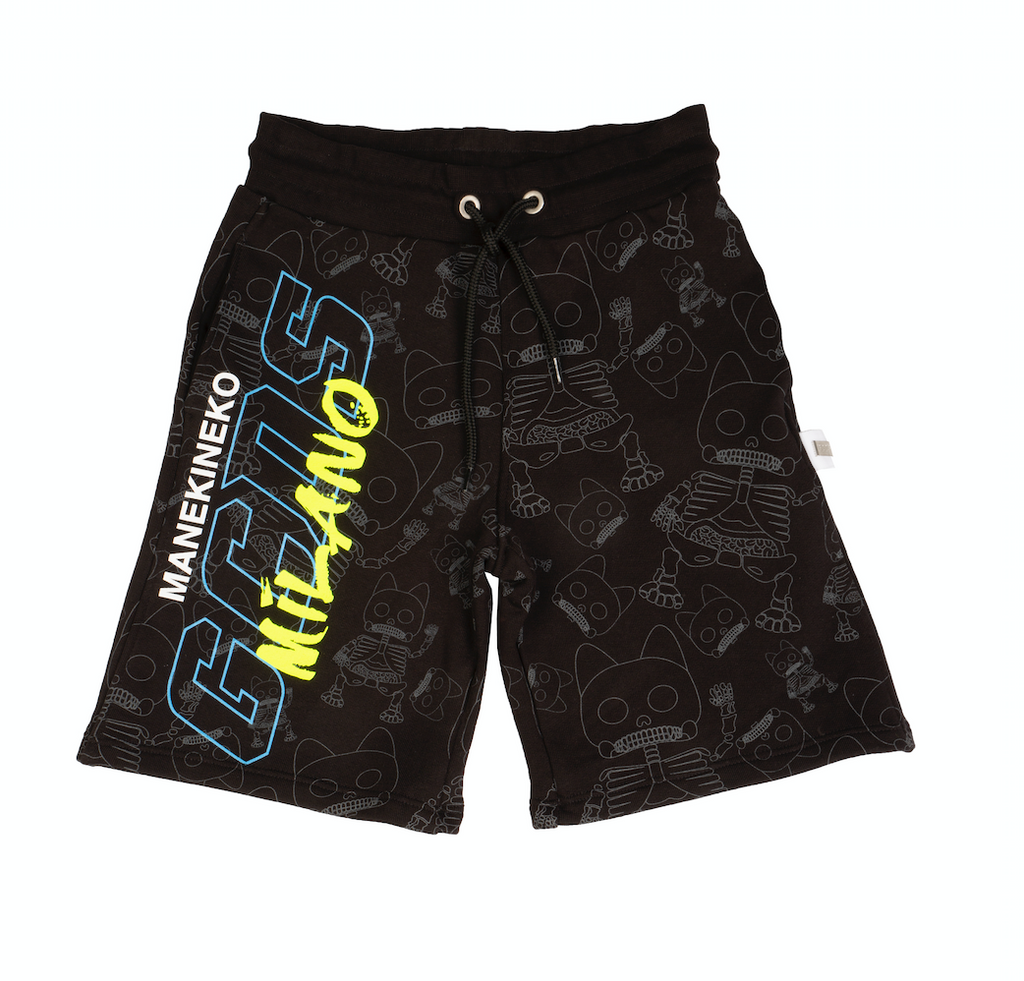 Black Graphic Shorts
