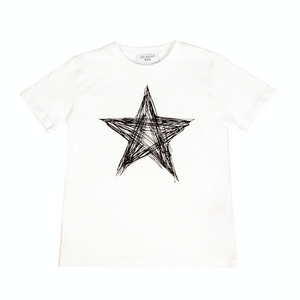 White Star Print T-shirt