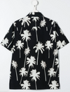Black Tropical Print Shirt