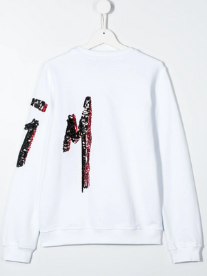Side Sequin Logo Sweatshirt