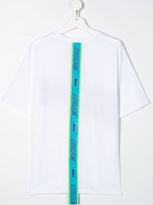 Logo Back Tape Print T-shirt