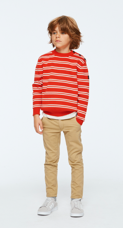 BROR JUMPERS - RED DOUBLE STRIPE