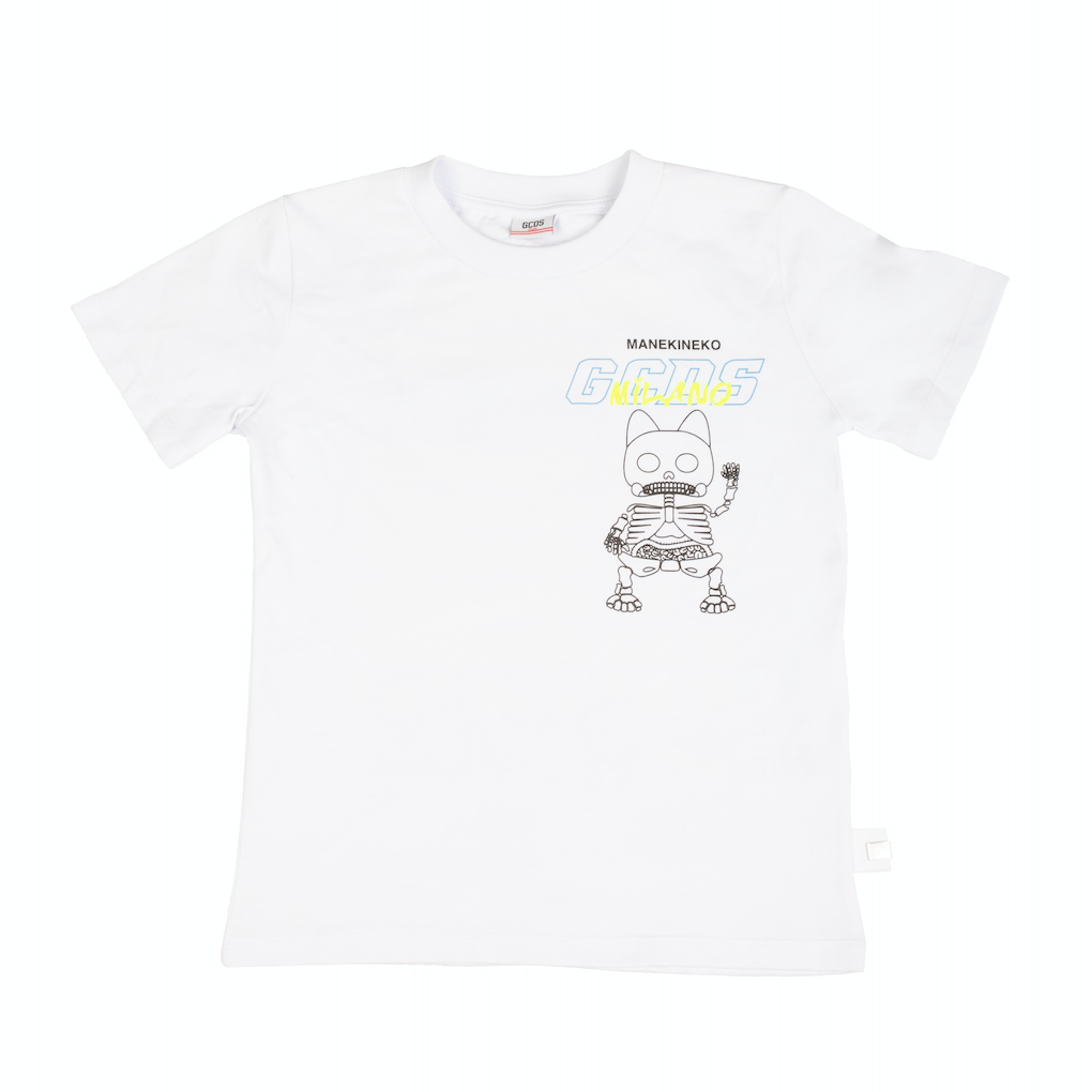 White Cat Printed T-shirt