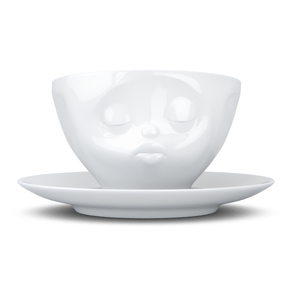 """Kissing"" Coffee Cup with Saucer 200ml/6.7oz"