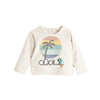 EMBROIDERED LIGHTWEIGHT TERRY SWEATSHIRT KIDS